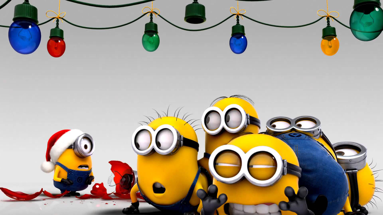 Minions decorating for christmas wallpapers