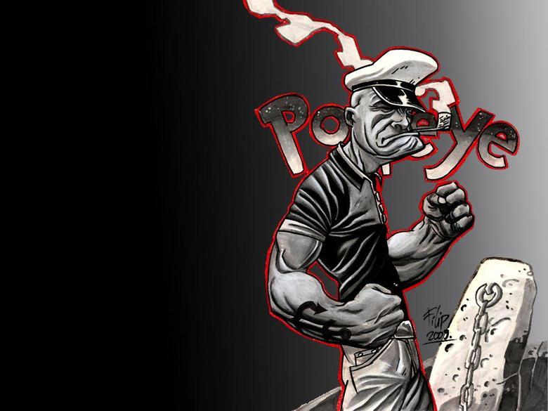 Popeye the Sailor Man Desktop by honestgeorge