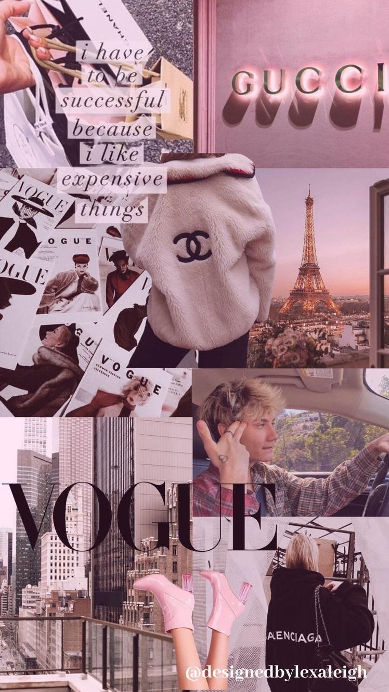 Vogue wallpaper Pastel pink aesthetic pinterest