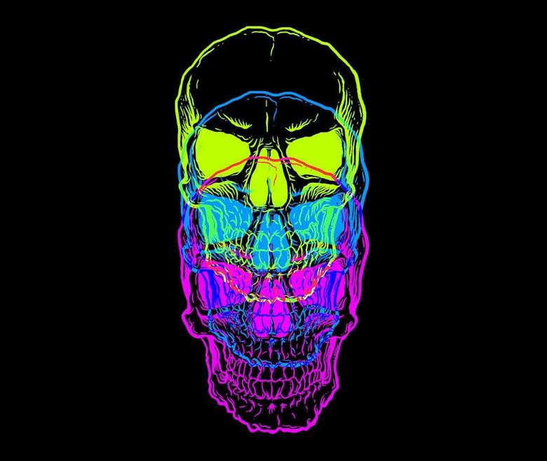 Multi coloured skull wallpapers