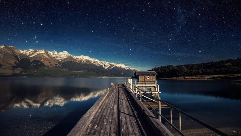 Wallpapers night sky 5k 4k wallpaper stars mountains bridge New