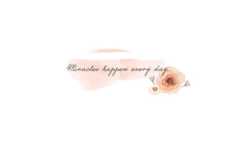 Res 2048x1280 Minimal watercolour Peach floral Miracles