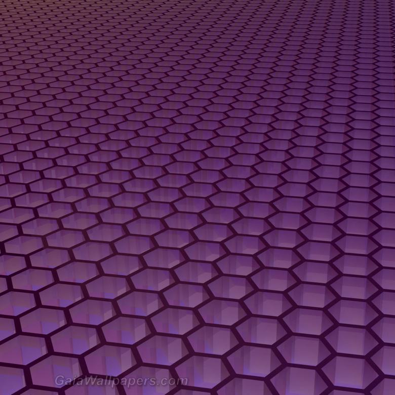 Infinite purple hexagonal grid wallpapers 2048x2048
