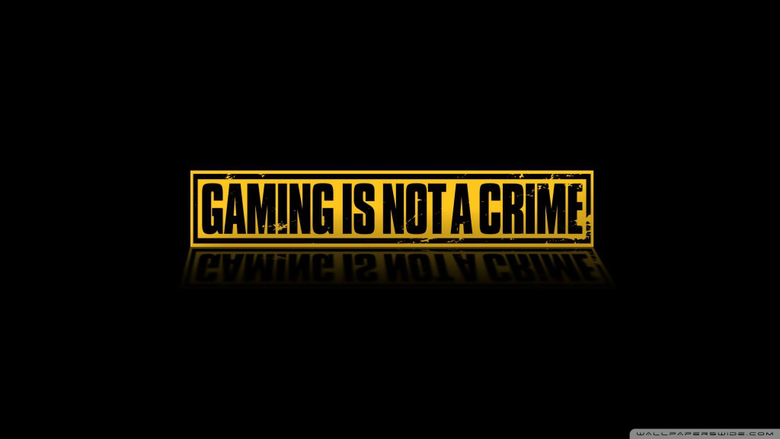 Gaming Is Not A Crime 4K HD Desktop Wallpapers for 4K Ultra HD
