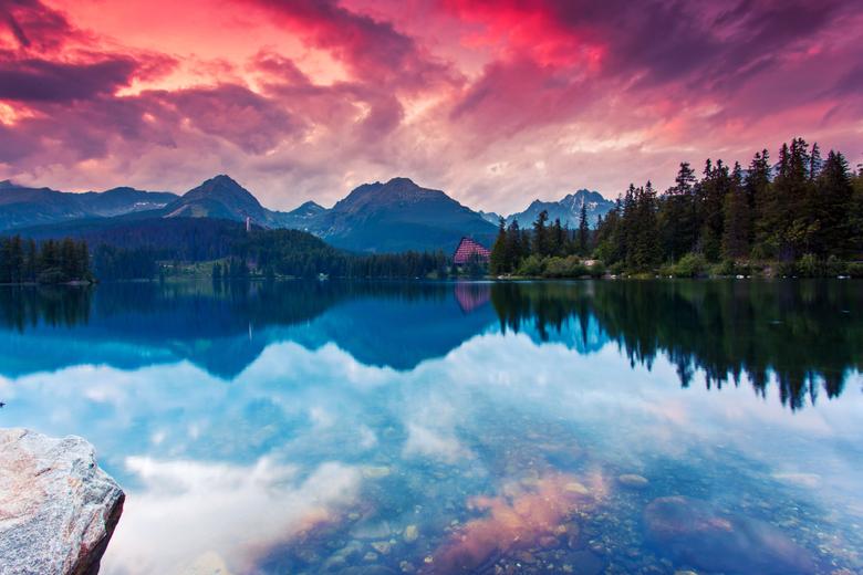 Wallpapers Lake Mountains Reflections Tatra National Park