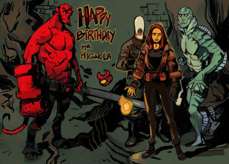 Hellboy Abe Sapien and Liz Sherman by Joël Jurion