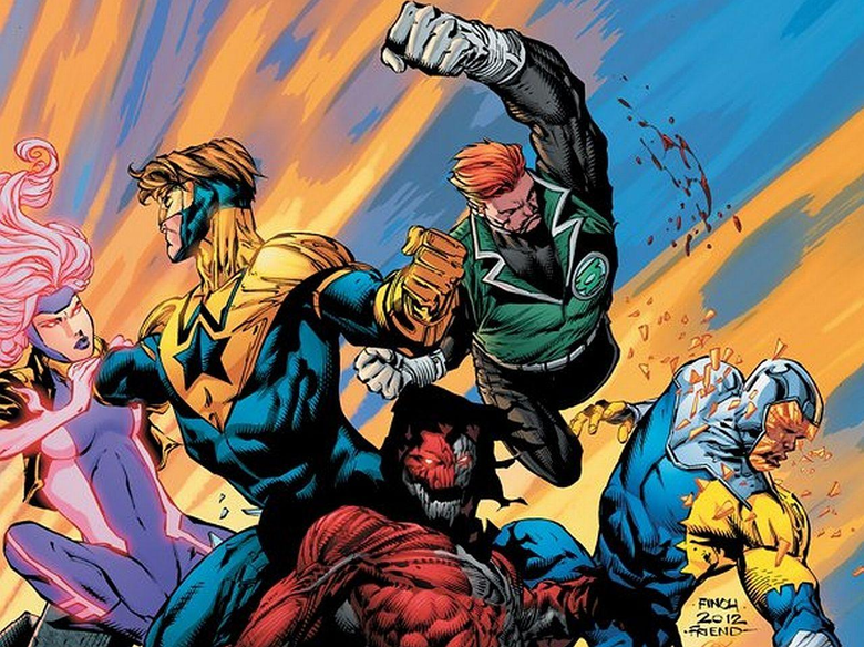 Booster Gold DC Comics Guy Gardener Green Lantern Justice League