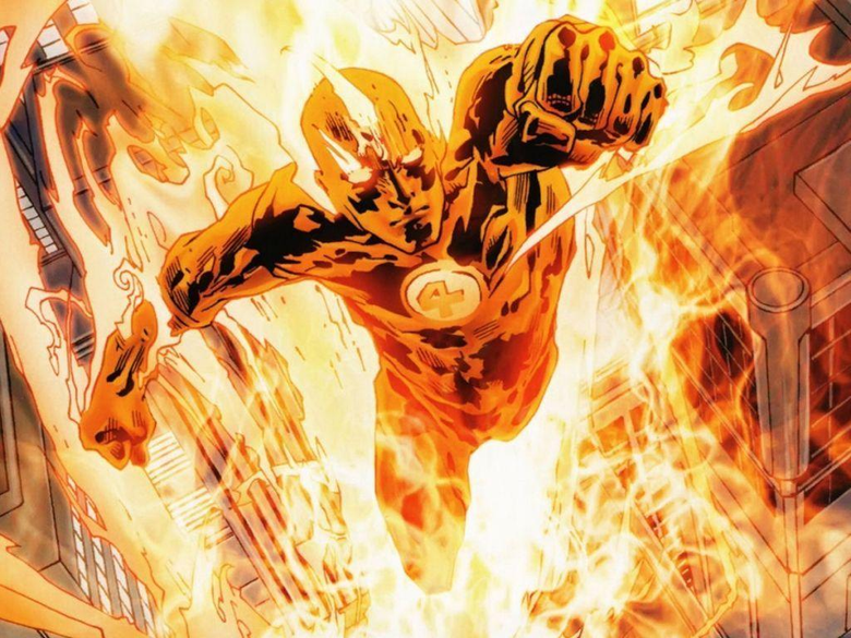 Pix For Marvel Human Torch Wallpapers