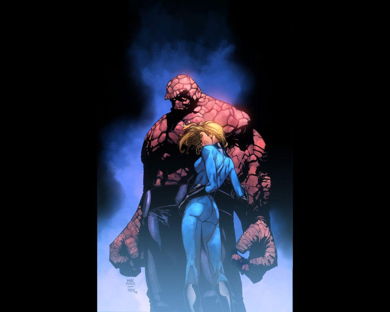 The Thing and Invisible Woman Wallpapers at Wallpaperist