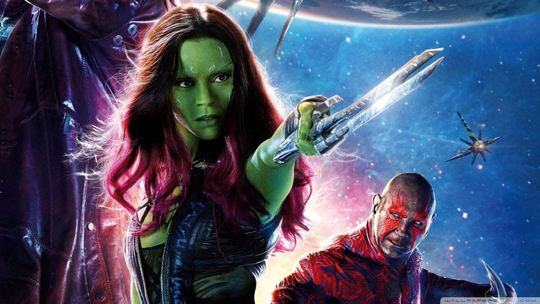 Guardians of the Galaxy Zoe Saldana as Gamora HD desktop wallpapers