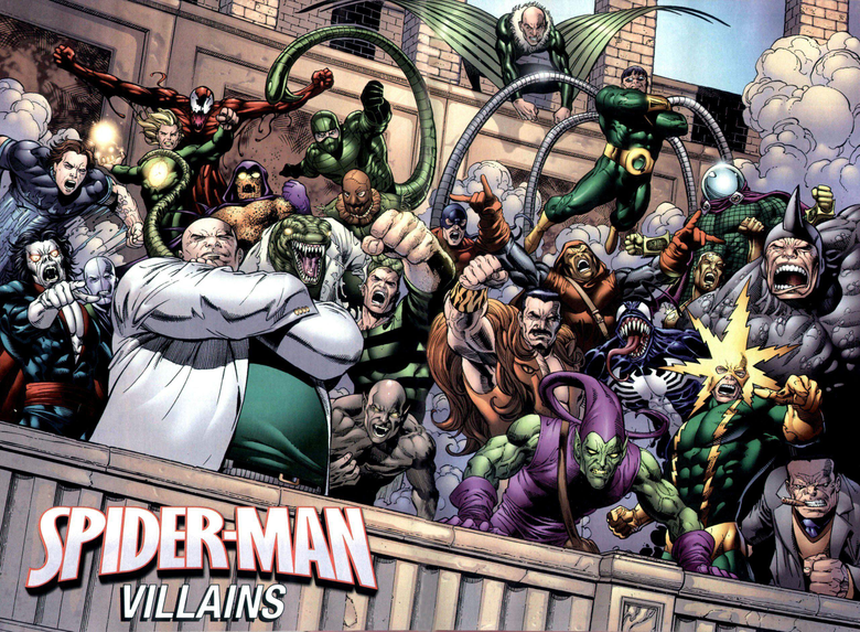Doctor Octopus Green Goblin Kingpin Marvel Comics Sandman