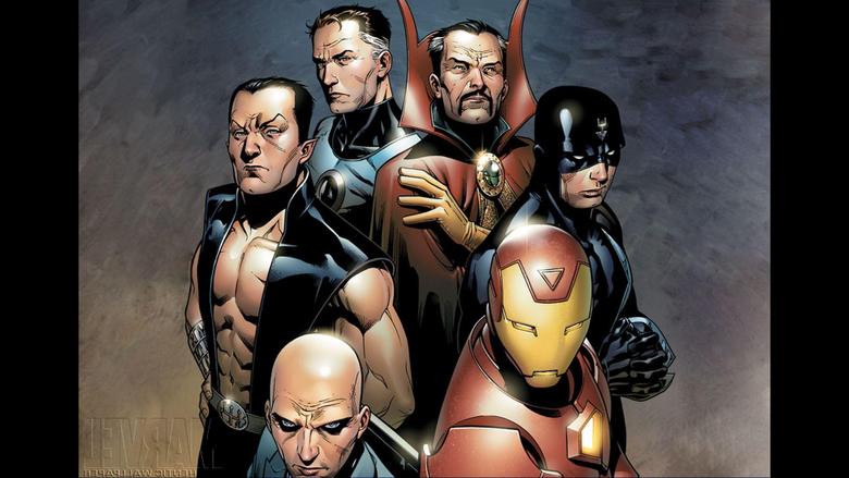 Illuminati Iron Man Charles Xavier Mr Fantastic Doctor Strange