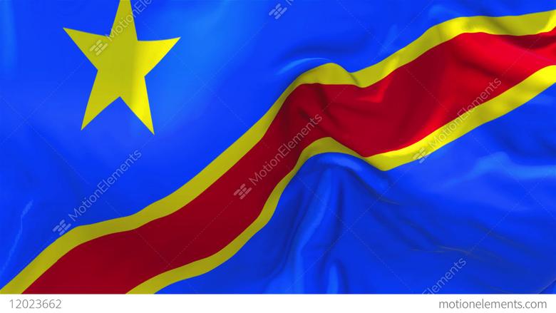 The Democratic Republic Of The Congo Flag Waving Seamless Loop