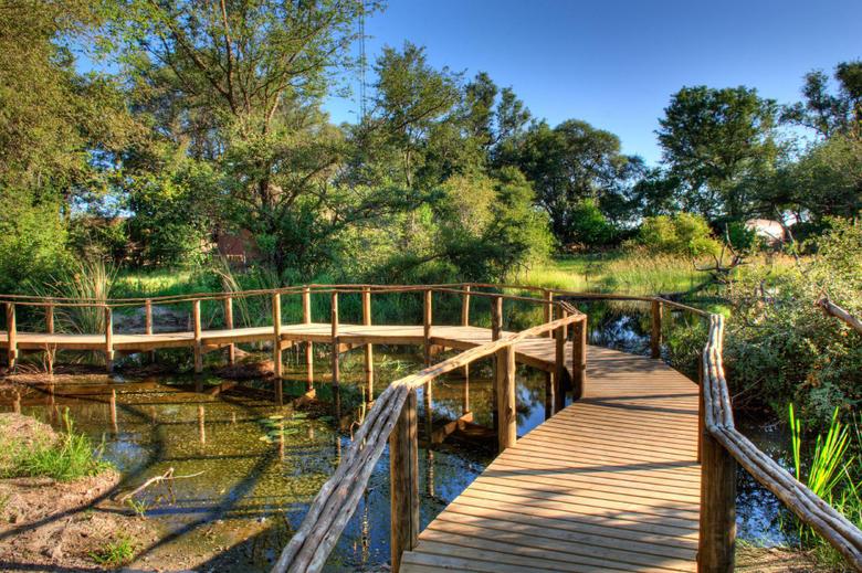 botswana wooden bridge
