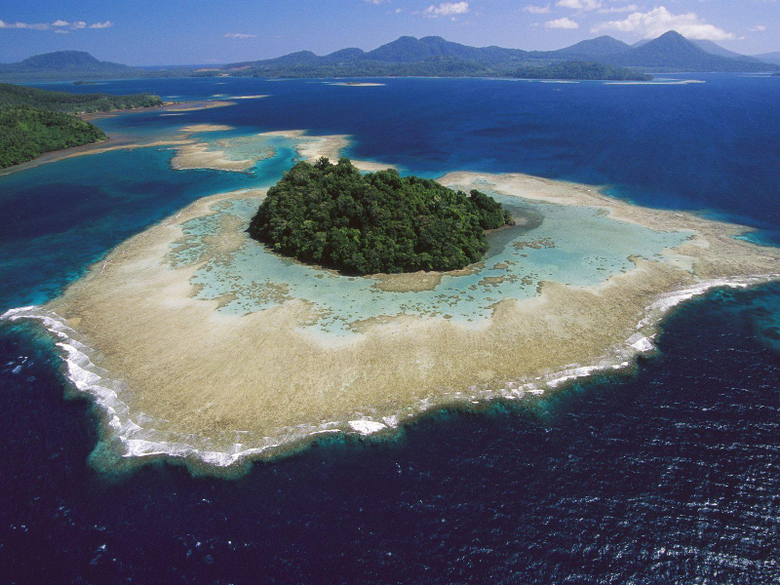 ocean forests islands beaches Papua New Guinea Wallpapers