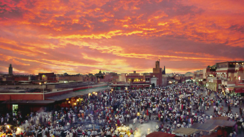 Marrakech Morocco Jamaa el Fna Square and Market Place