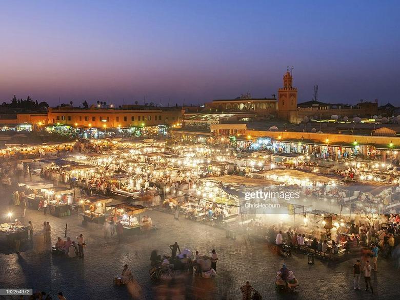 Djemaa El Fna Square Marrakech Morocco Stock Photo