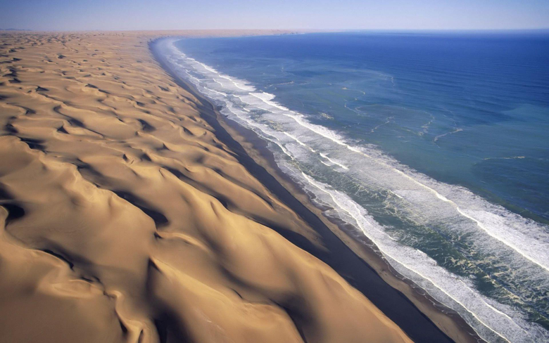 landscape Dune Beach Namibia Wallpapers HD Desktop and Mobile