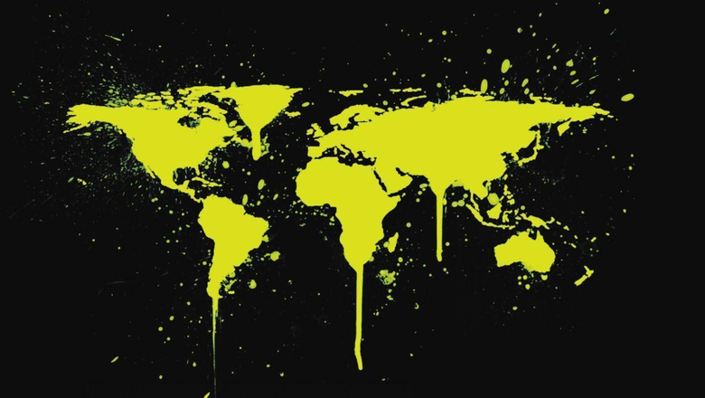 World Map Paint Wallpapers Wallpapers