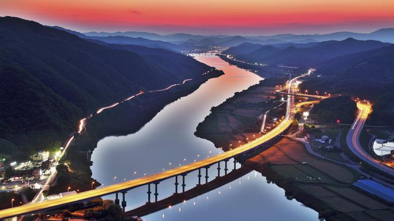 Gwangan Bridge Busan South Korea wallpapers