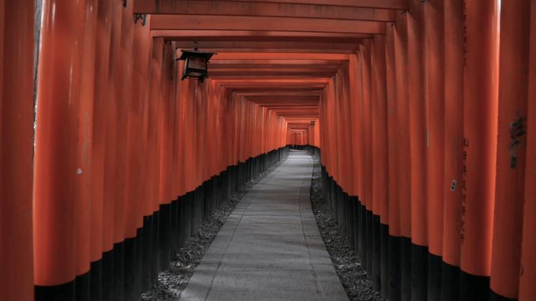 Red torii gates at Fushimi