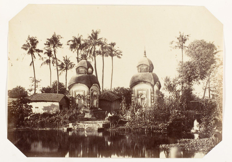 Vintage Photograph of Temples in the Suburbs of Calcutta