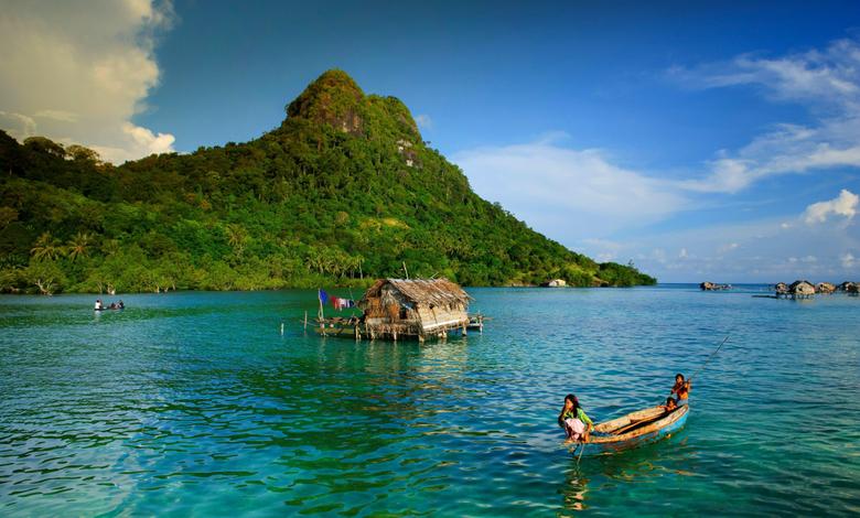 nature Landscape Island Boat Indonesia Children Sea