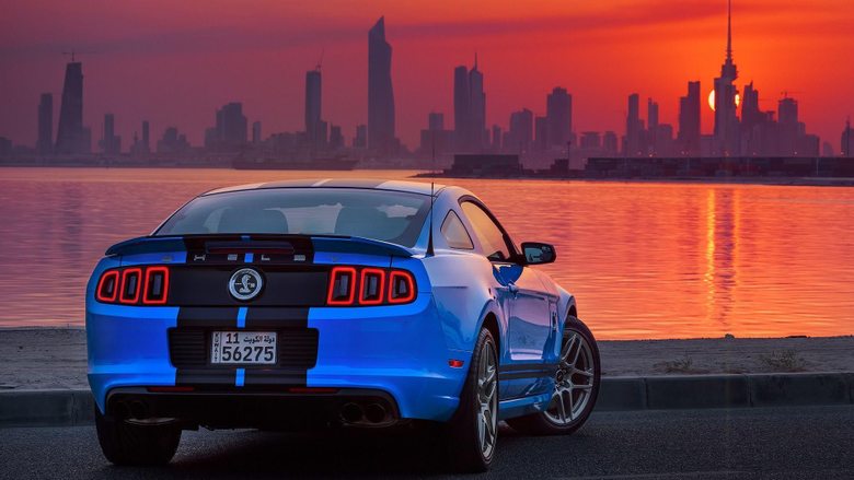 Shelby GT500 Ford USA Car Ford Mustang Shelby Sunrise Kuwait