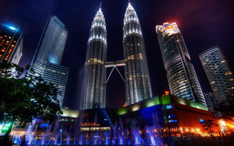 Petronas Twin Towers pair of skyscraper office buildings in Kuala