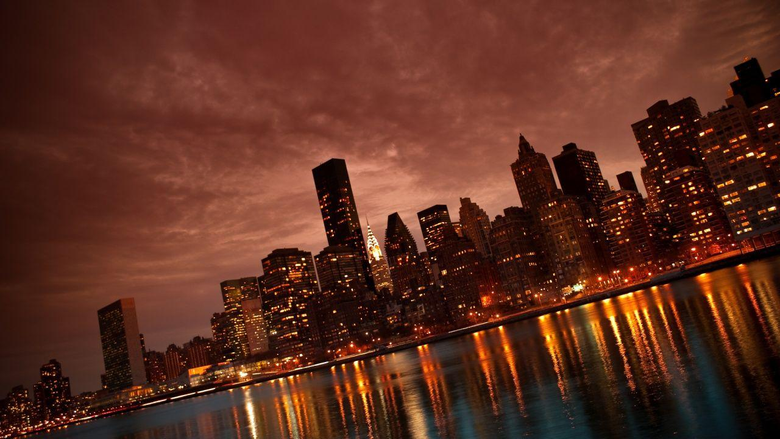 Manhattan NYC Reflections Wallpapers in jpg format for