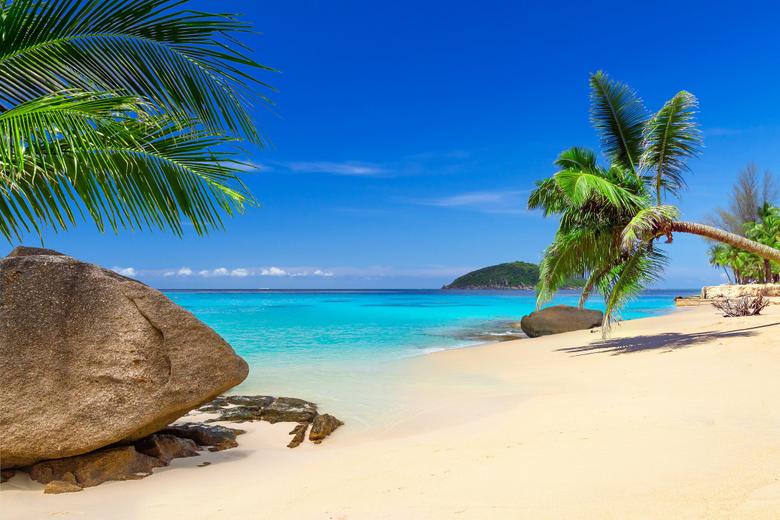 Thailand Tropics Coast Stones Scenery Sky Palma Sand Phuket Nature