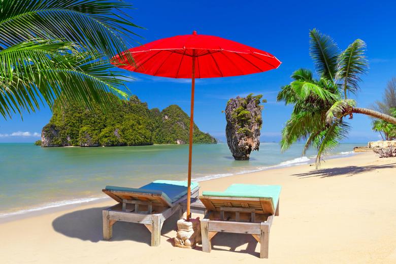 palma nature cool image umbrella peace coast sand hd beach