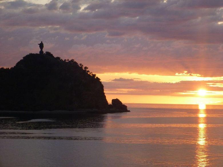 Jesus at sunset Dili Timor Leste