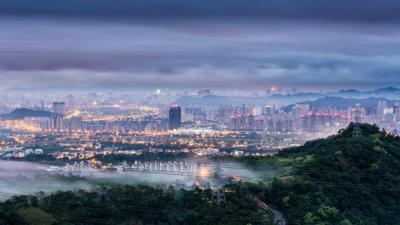 Misty Taipei in Taiwan wallpapers and image
