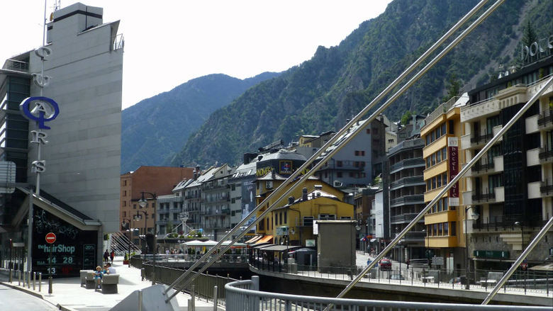Andorra la Vella of TAX shopping in a modern city