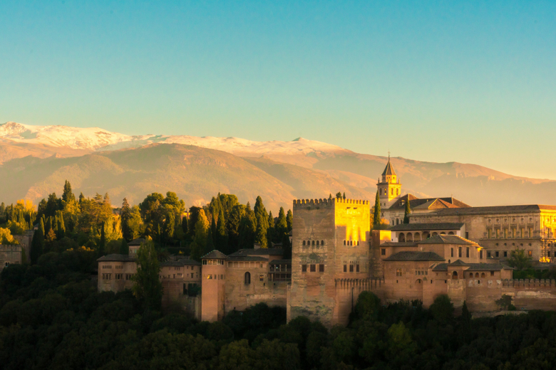 alhambra and sierra nevada 4k wallpapers and backgrounds