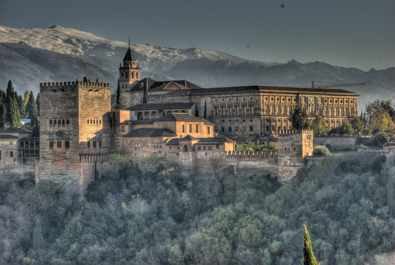 Alhambra Palace in Granada Spain Tourist Place Wallpapers