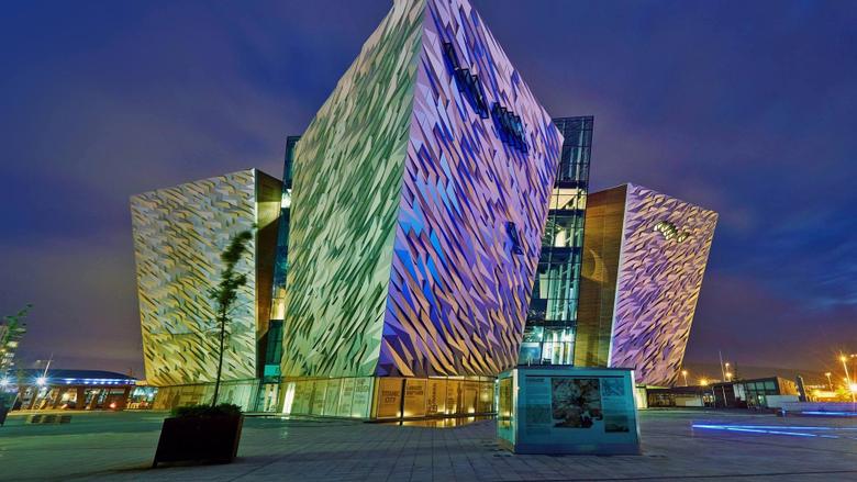 Titanic Belfast a maritime museum in Belfast Northern Ireland