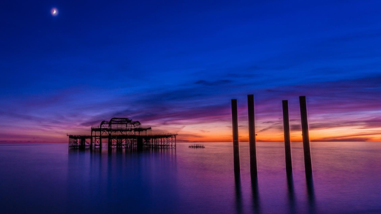Landscapes nature pier brighton wallpapers