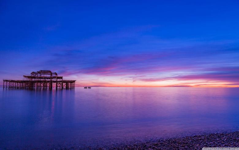 Brighton Pier Sunset 4K HD Desktop Wallpapers for 4K Ultra HD TV