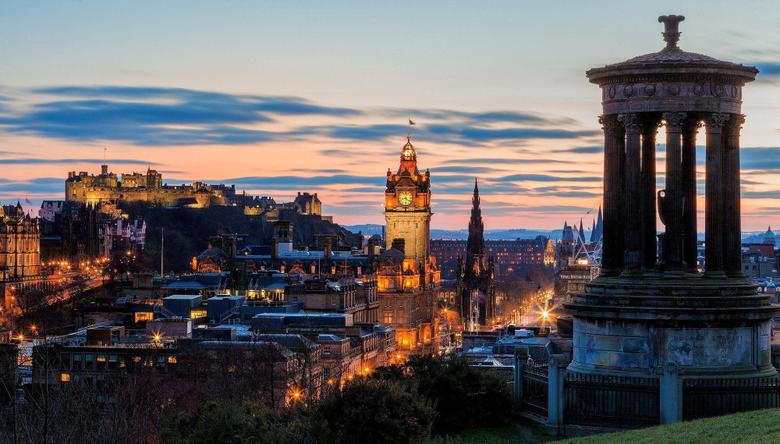 Scotland calton hill edinburgh dugald stewart monument wallpapers
