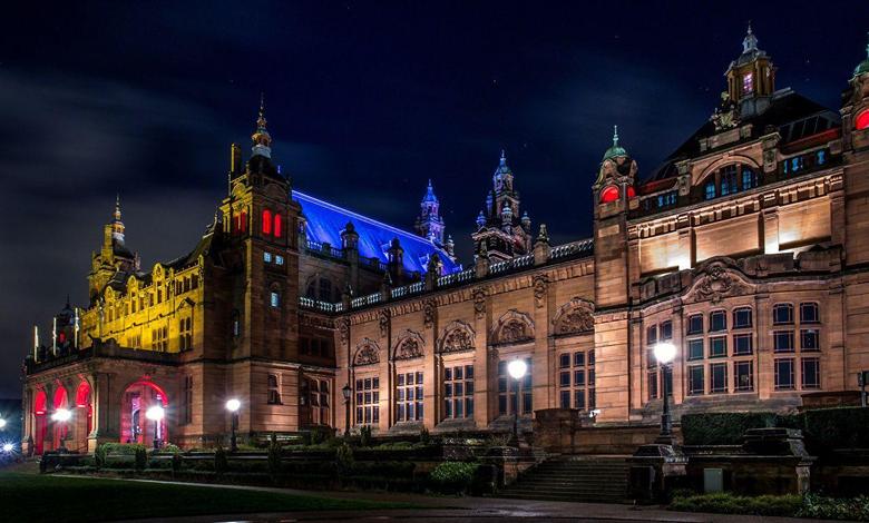 Wallpapers Scotland Kelvingrove Art Gallery Museum Glasgow Night