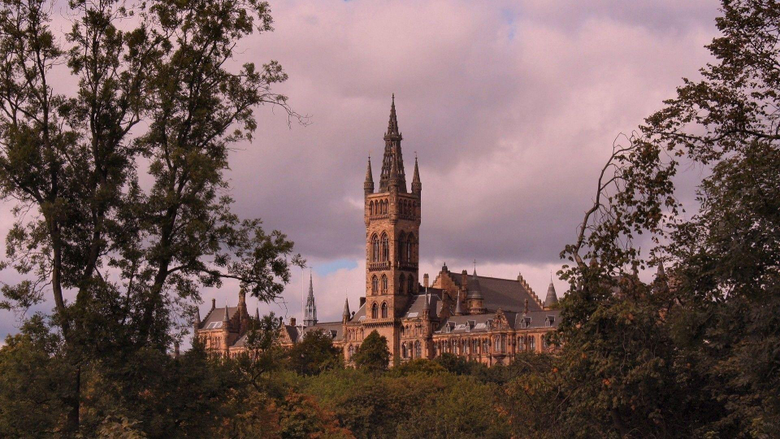 Religious Chapel University Glasgow Places Known Tower Overcast