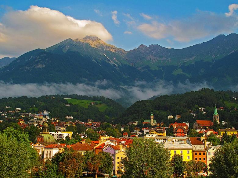 Photos Austria Innsbruck Mountains Cities Houses
