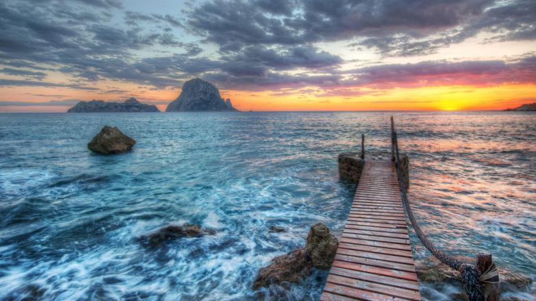 Distant Rocks Off Ibiza widescreen wallpapers