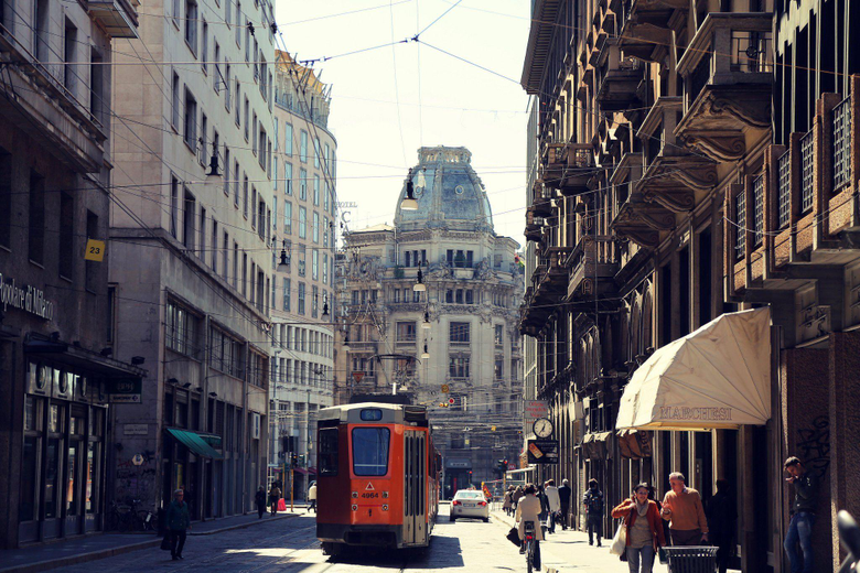 Italy milan milano city road people downtown train wallpapers