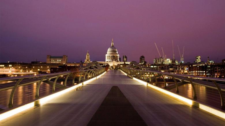 millennium bridge london cityscape wallpapers