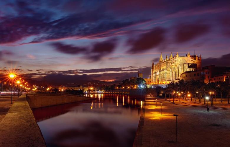 Wallpapers night lights Spain Mallorca Palma de Mallorca image