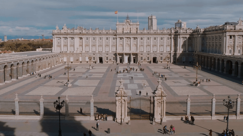 The Royal Palace in Madrid called Palacio Real Stock Video Footage