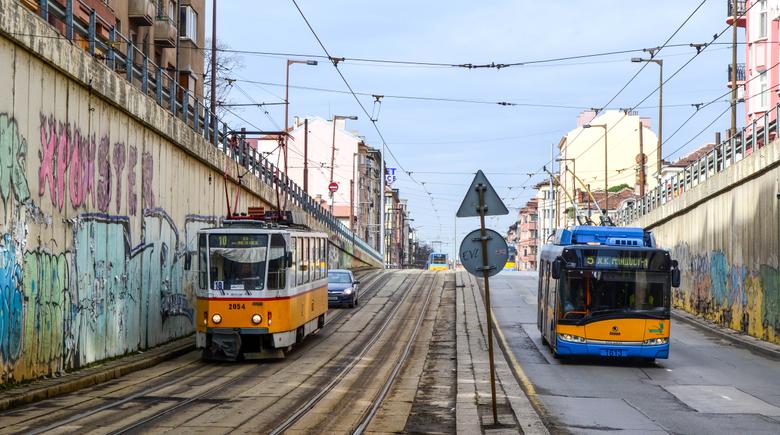 Wallpapers train tram Bulgaria electricity czech Skoda
